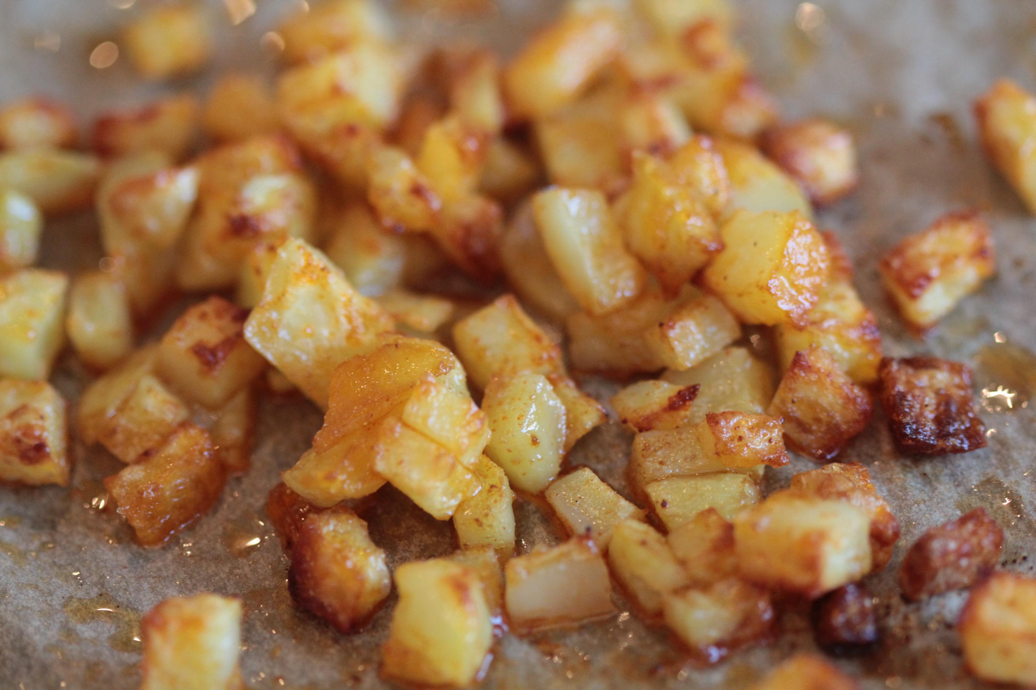 Geröstete Kartoffelwürfel