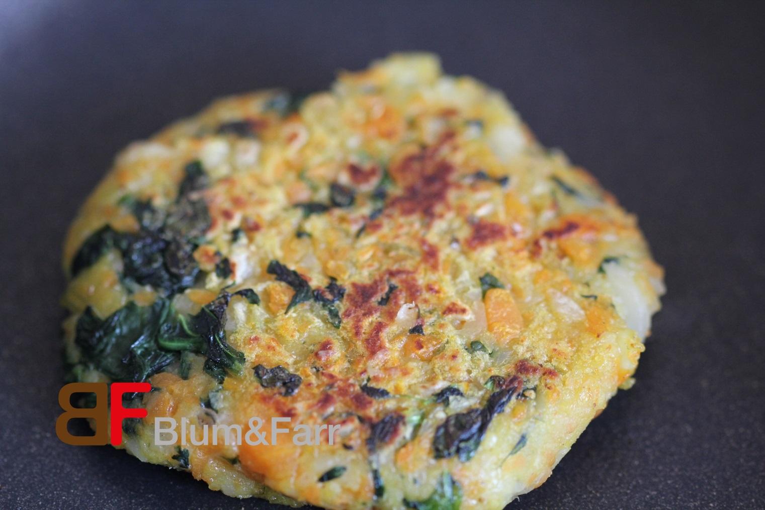 Spinat-Karotten-Küchlein