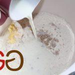 Mehl, Zucker, Hefe, Margarine und Milch in eine Schüssel geben.
