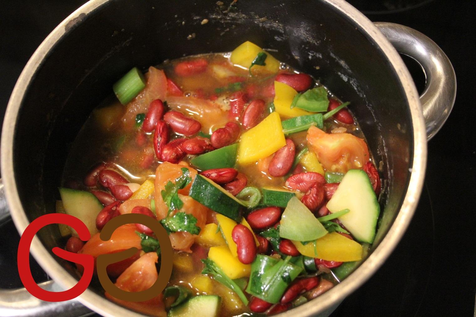 Gemüse-Bohnen-Eintopf